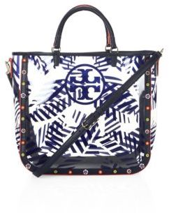 Tory Burch Tory Burch Marguerite Palm Leaf-Printed Tote