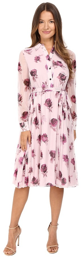 Kate Spade Kate Spade New York Encore Rose Chiffon Dress