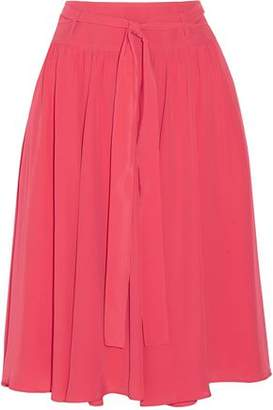 Philosophy di Lorenzo Serafini Belted Pleated Crepe Skirt