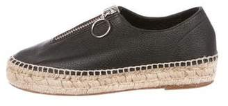 Alexander Wang Leather Round-Toe Espadrilles