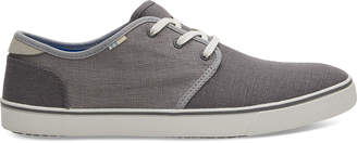 Toms Drizzle Grey And Shade Heritage Canvas Mens Carlo Sneakers Topanga Collection