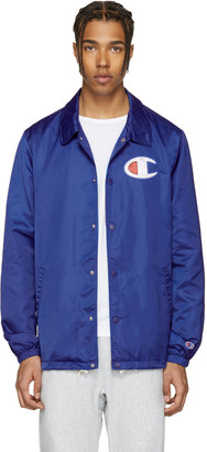 Champion Reverse Weave Blue Coach Track Jacket $150 thestylecure.com