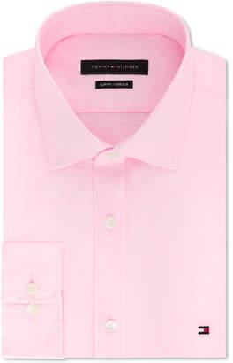 b9af84894 Tommy Hilfiger Men Slim-Fit Stretch Solid Dress Shirt