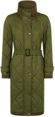 Burberry Quilted Parka with Tie Waist
