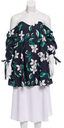 62c692153c8c1 Caroline Constas Off-The-Shoulder Floral Blouse