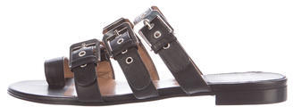 Laurence Dacade Buckle Slide Sandals $225 thestylecure.com