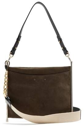 Chloé Roy Suede And Leather Cross Body Bag - Womens - Dark Brown