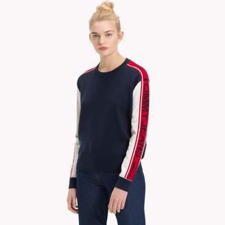 Tommy Hilfiger Logo Sleeve Sweater