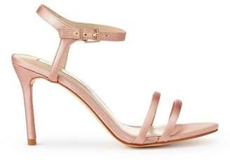 Miss Selfridge Cassie pink barely there stiletto heel sandals