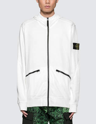 Stone Island Zip Hoodie With Contrast Zippers