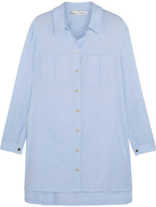Heidi Klein - St Barths Cotton-chambray Shirt - Sky blue $275 thestylecure.com