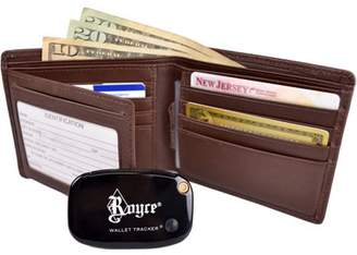 Royce Leather GPS Tracking and RFID Blocking Men's Bifold Freedom Wallet in Genuine Leather