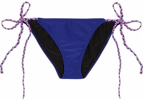 Tara Matthews TM by Bliss braid-trimmed bikini briefs