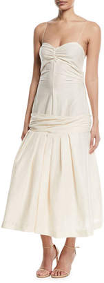 La Robe Mamao Linen-Blend Drop-Waist Dress
