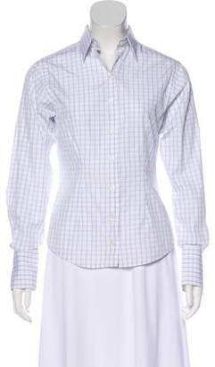 Thomas Pink Button-Up Printed Top