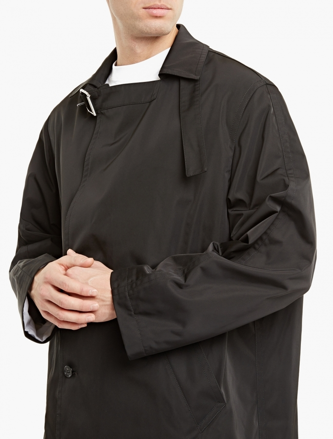 Raf SimonsRaf Simons Black Nylon Oversized Trench Coat