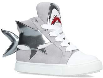 Kurt Geiger London Suede Fin Sneakers