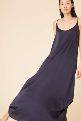 Mansur Gavriel Silk Charmeuse Flowy Slip Dress - Blu