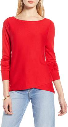 Halogen Crossover Front Knit Sweater