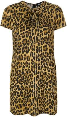 DSQUARED2 leopard print T-shirt dress
