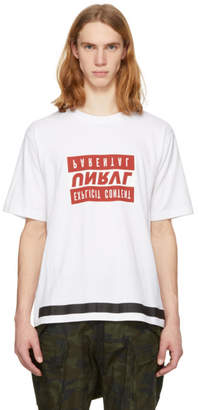 Unravel White and Red Explicit Skate T-Shirt