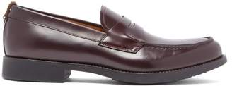Burberry Emile Leather Penny Loafers - Mens - Burgundy