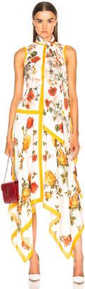 Alexander McQueen Scarf Print Handkerchief Hem Dress