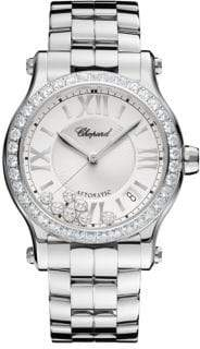 Chopard Happy Sport Diamond& Stainless Steel Bracelet Watch