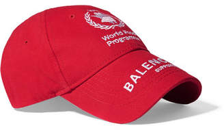 Balenciaga World Food Programme Embroidered Cotton-twill Baseball Cap