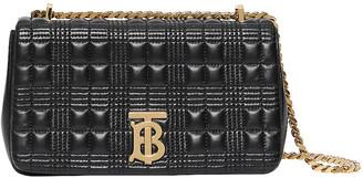 Burberry Small Soft Leather Crossbody Bag in Black & Black | FWRD