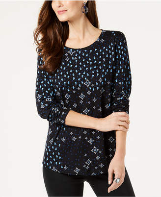 Style&Co. Style & Co Printed Top