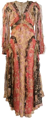 Zimmermann floral patchwork dress