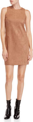 Necessary Objects Suede-Inspired Shift Dress