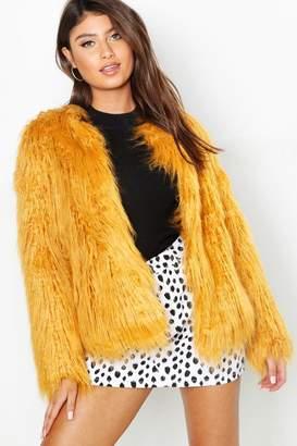 boohoo Anna Mongolian Faux Fur Coat