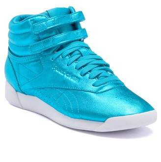 Reebok Freestyle Hi Top Metallic Sneaker
