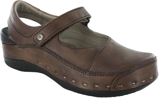 Wolky Leather Clogs - Strap Cloggy