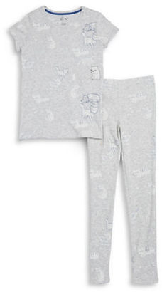 Dex Girls Cat Tee and Pants Pajama Set $32 thestylecure.com
