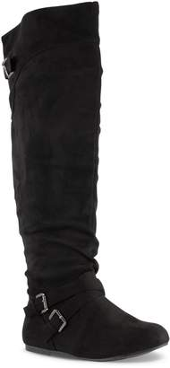 488374c51a7 Twisted Women s Shelly Wide Calf Slouchy Over The Knee Faux Leather Fashion  Boot-