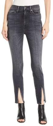 Alice + Olivia AO.LA by Alice+Olivia Good High-Rise Skinny Jeans with Front Slit