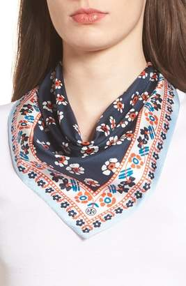 Tory Burch Floral Stamped Silk Scarf