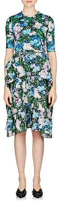 Balenciaga Women's Wildflower-Print Midi-Dress