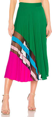 MILLY Pleated Maxi Skirt