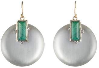 Alexis Bittar Stone Studded Retro Wire Earring