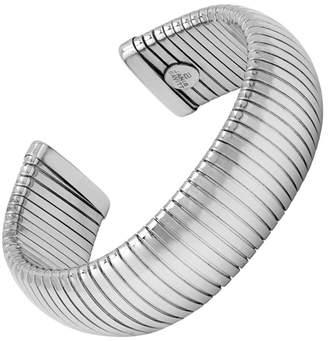 Janis Savitt Open Large Rhodium Cobra Cuff Bracelet