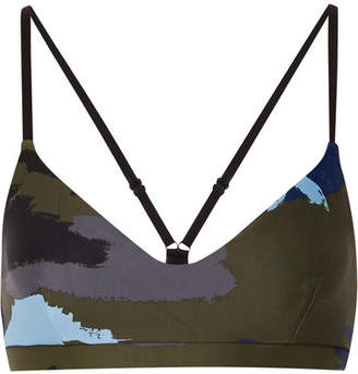The Upside Zoe Camouflage-print Stretch Sports Bra