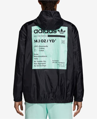 adidas Men's Originals Kaval Graphic Half-Zip Hooded Windbreaker