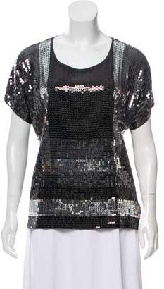MICHAEL Michael Kors Derby Sequin Top w/ Tags