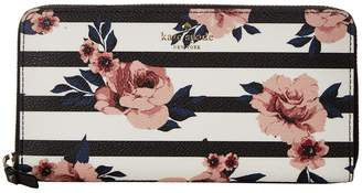 Kate Spade Hyde Lane Rose Stripe Lacey Wallet