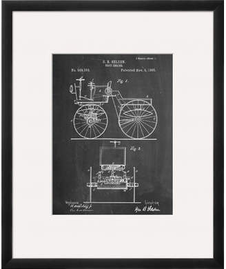 Art.com 'Antique Automobile Patent 1895' Framed Graphic Art
