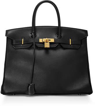 Hermes Vintage Birkin 35 Calfskin Satchel Bag, Black